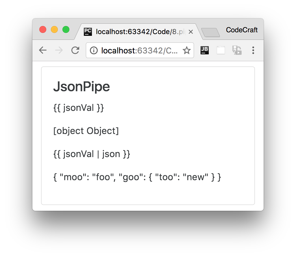 json pipe